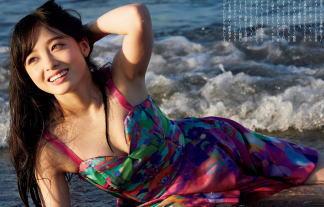 【画像あり】橋本環奈が週刊プレイボーイで水着グラビアwww胸の谷間ムハー(゚∀゚)=3